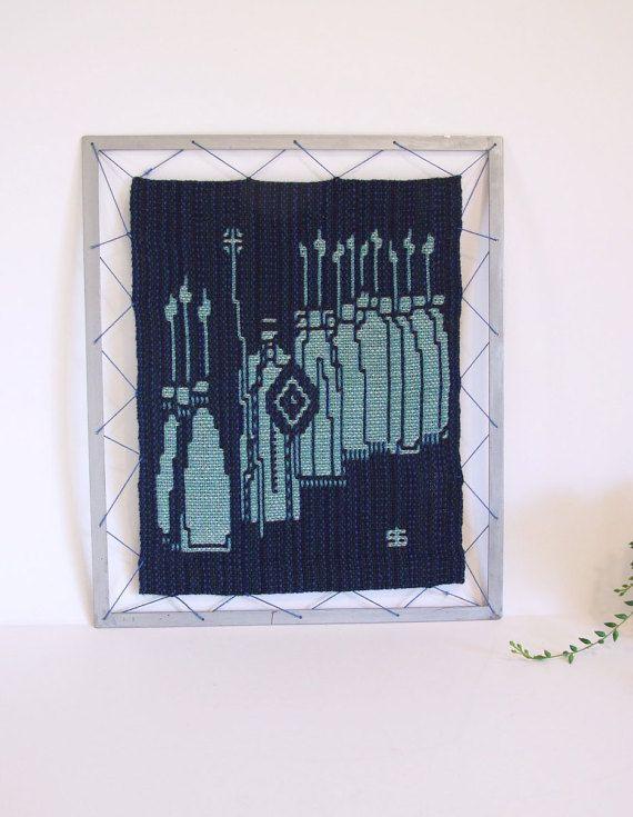 Arnljot tapiz escandinavo vintage hecho a mano // por tiendanordica