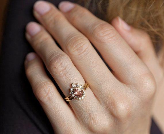 Gold-Saphir-Ring Diamant Saphir-Ring Verlobungsring von MinimalVS