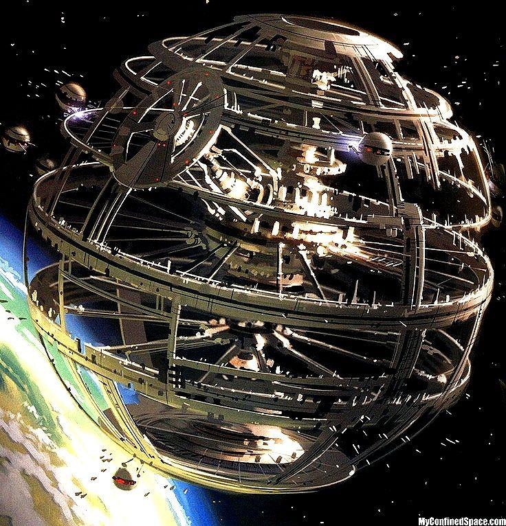 futuristic donut space station - photo #7