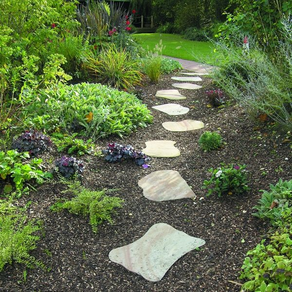 7 best images about stepping stones on pinterest gardens Round wooden stepping stones
