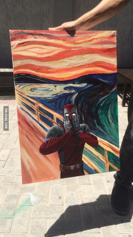 So a guy in my university did this, my jaw dropped on the floor of how good the painting is