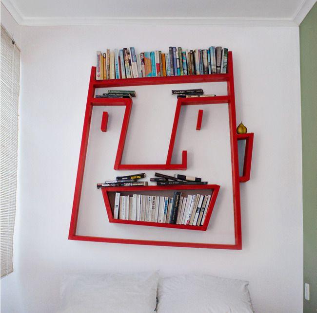 libreroBookshelves, Bookshelf Design, Home Accessories, The Face, Kids Room, Bookcas, Book Shelves, Art Wall, Shelves United