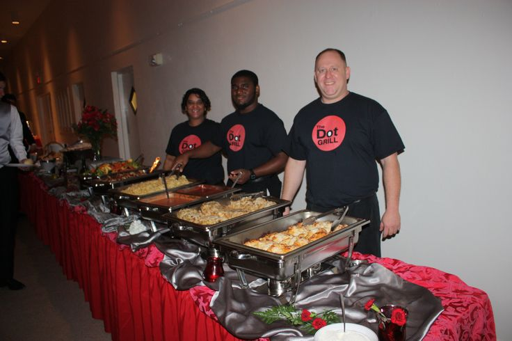 Wedding by Affordable Catering at Tampa Garden Club. We served out Italian Menu. Degrassi theme, our servers wore t-shirts from The Dot Grill that is on the show!