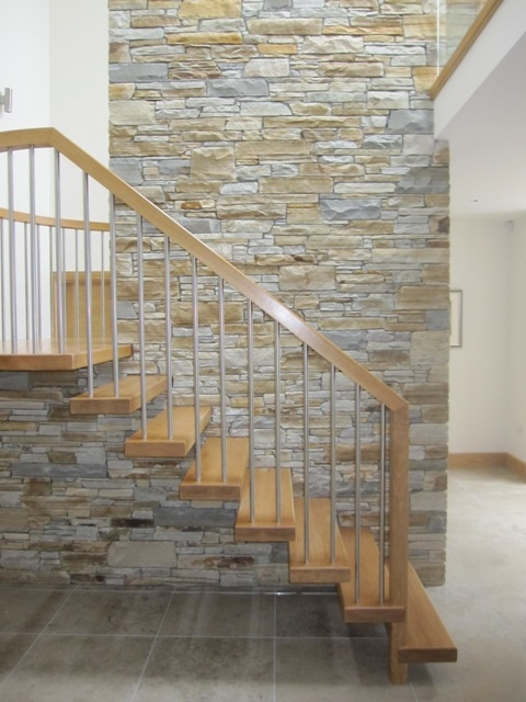 A mixture of Gold & Silver Donegal Quartzite Walling Stone - McMonagle Stoneer