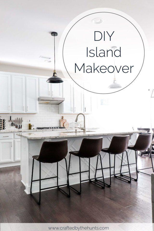 How To Upgrade A Builder Grade Kitchen Island In 2020 With Images Builder Grade Kitchen Kitchen On A Budget Diy Kitchen Island