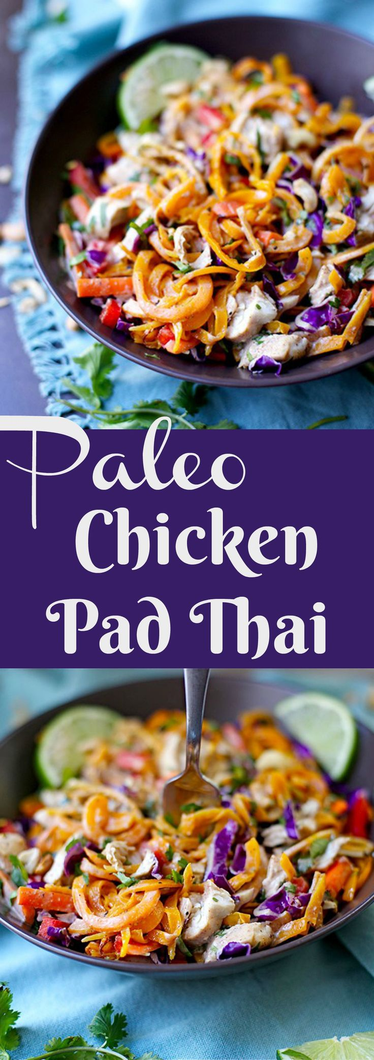Simple Grain-Free Pad Thai that is packed with flavor!! Easy for a weeknight meal!