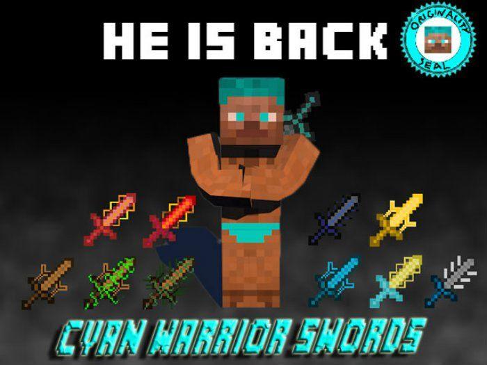 Cyan Warrior Swords Mod Minecraft Mods Minecraft 1 Mod