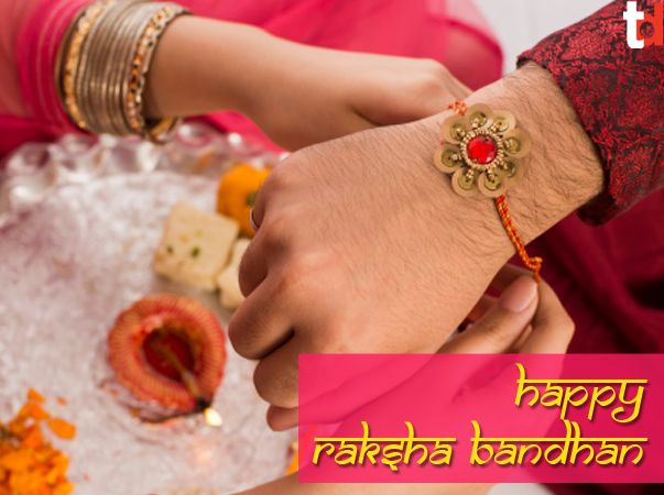 On Raksha Bandhan, sisters tie a rakhi (sacred thread) on her brother's wrist. This symbolizes the sister's love and prayers for her brother's well-being, and the brother's lifelong vow to protect her