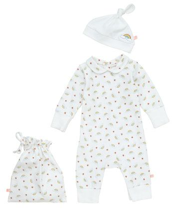 Mothercare | Little Bird by Jools Rainbow and Toadstool All in One with Hat and Bag £7.50