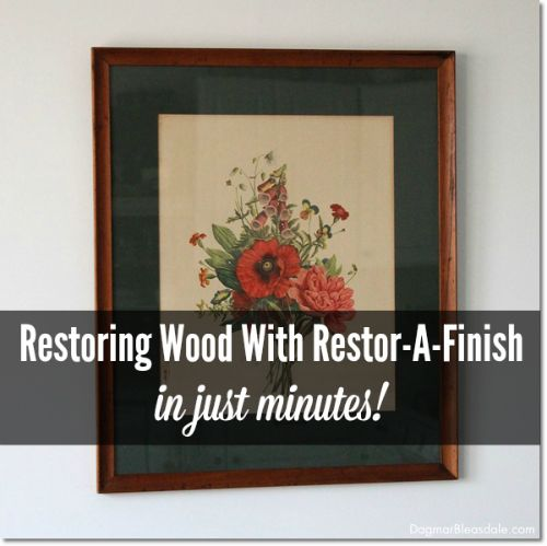 Restore wood with Restor-A-Finish in just minutes! The only thing to use on all your wood finishes,that need a little,or a lot of love!