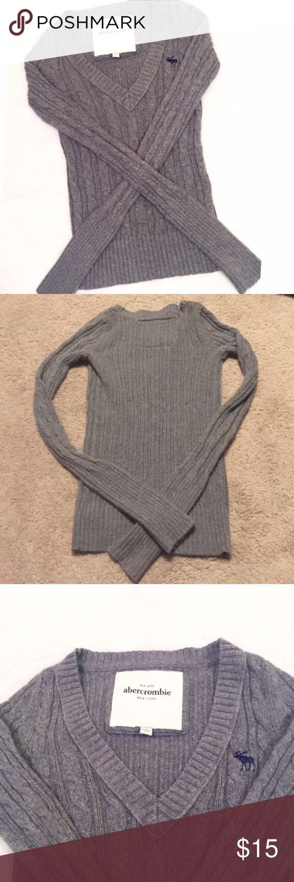 "❣BOGO 1/2 off❣🆕 Abercrombie cable knit sweater NWOT, flawless. Small. V neck. 19.5"" long, 13"" flat across chest, & 23"" sleeves. Very soft & stretchy. 55% cotton, 20% viscose, 15% acrylic, 10% rabbit hair. Hand wash cold. 🔴Bundle your likes for a private sale offer! 🔴NO TRADES, no modeling. 🔴REASONABLE offers welcome via offer button. Smoke free home. Fast shipping! abercrombie kids Shirts & Tops Sweaters"