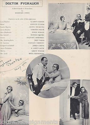 DOCTOR PYGMALION GLADYS COOPER JANE WOOD PLAYHOUSE THEATRE PLAY SCRAPBOOK PAGE