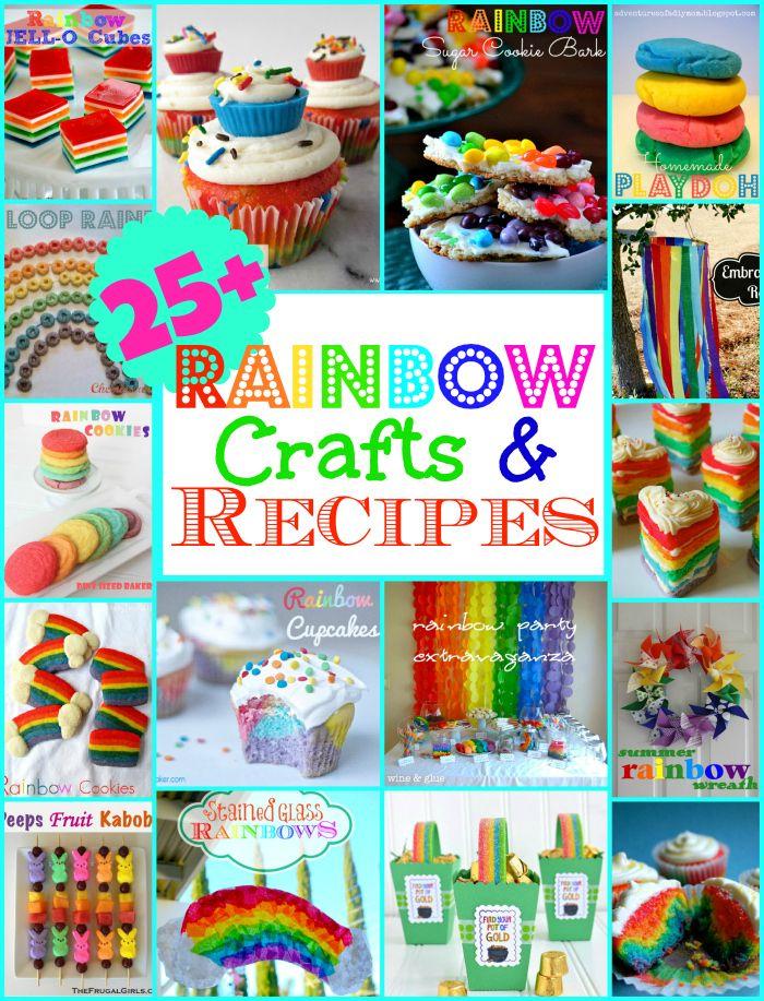 25+ Rainbow Recipes and Crafts   MomOnTimeout.com #cupcakes #crafts #Dessert #kids #rainbow #party