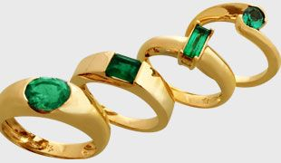 Joyería El Jinete Azul Anillos de Oro con Esmeraldas