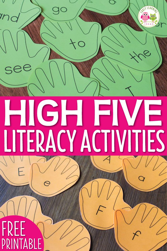 Use this free editable template to create custom and fun literacy activities for your kids. Teach letter recognition, phonemic awareness, sight words, names, word families, rhyming, etc. Many activity ideas are included. The activities are perfect for literacy centers in preschool, pre-k, kindergarten and home school classrooms.