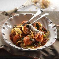 Bocconcini Stuffed Meatballs With Napoletana Sauce