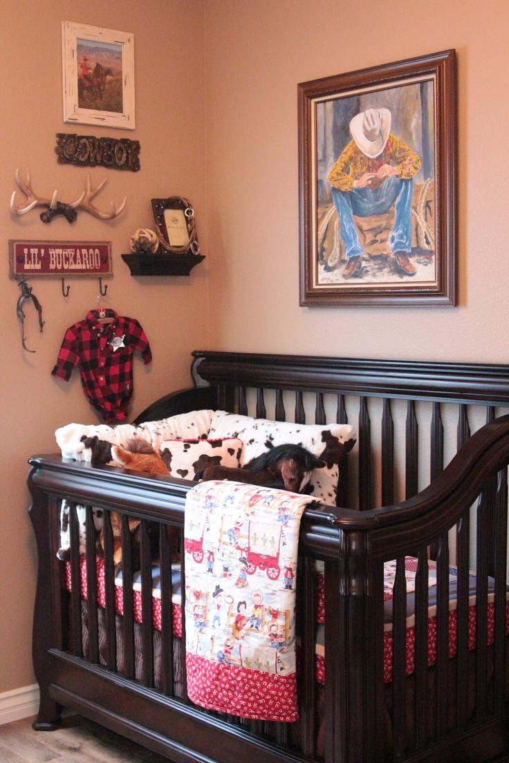 Ryan's version of a nursery...lol...Cowboy Country Nursery