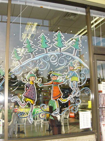 33 best Window painting images on Pinterest   Christmas ...