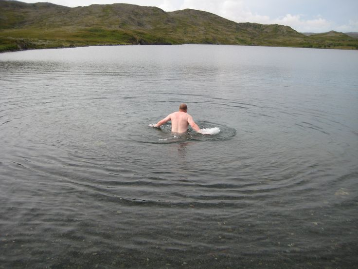 My crazy brother swims in the lake on the fell. Must be cold!!!!