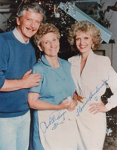 "Robert Reed,Ann B.Davis & Florence Henderson of ""The Brady Bunch"" - December,1988 Christmas Special."