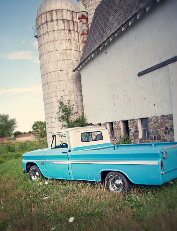 Blue Pickup Truck, one day I will own an old pickup. I hope it's blue:)