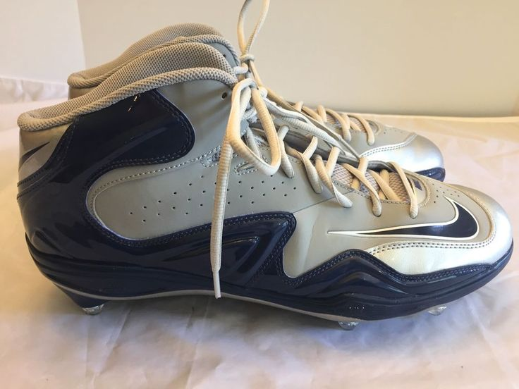 Nike Zoom Size 13.5 Gray Navy Blue Merciless Football Cleats 548529-009 #Nike