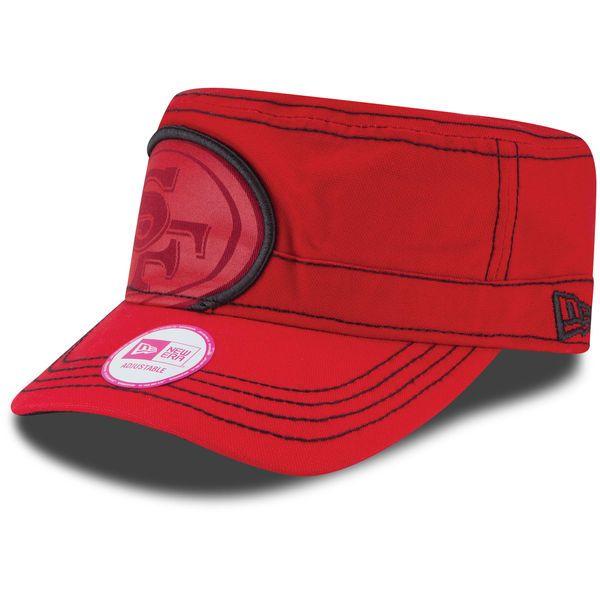 San Francisco 49ers New Era Women's Jumbo Zone Adjustable Hat - Scarlet - $26.99