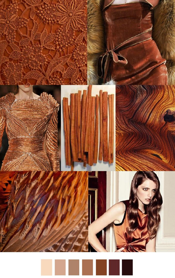 Cinnamon - spicy, earthy, sassy. #colorswatches