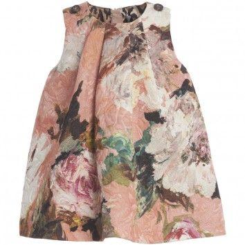 Dolce & Gabbana girls thick textured shift dress