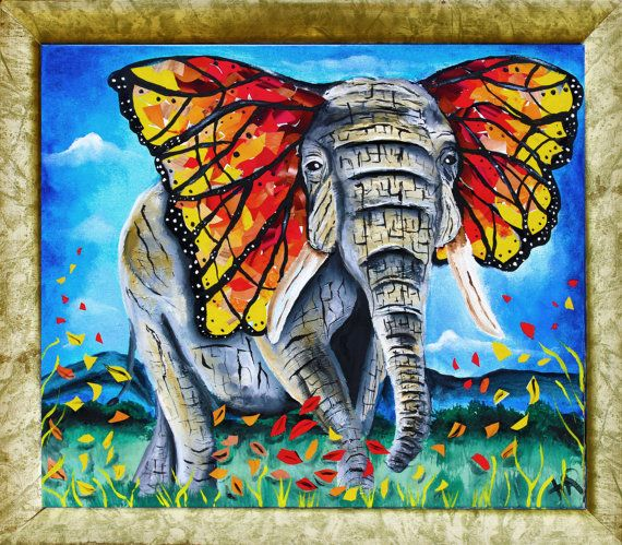 painted elephant butterfly - photo #21