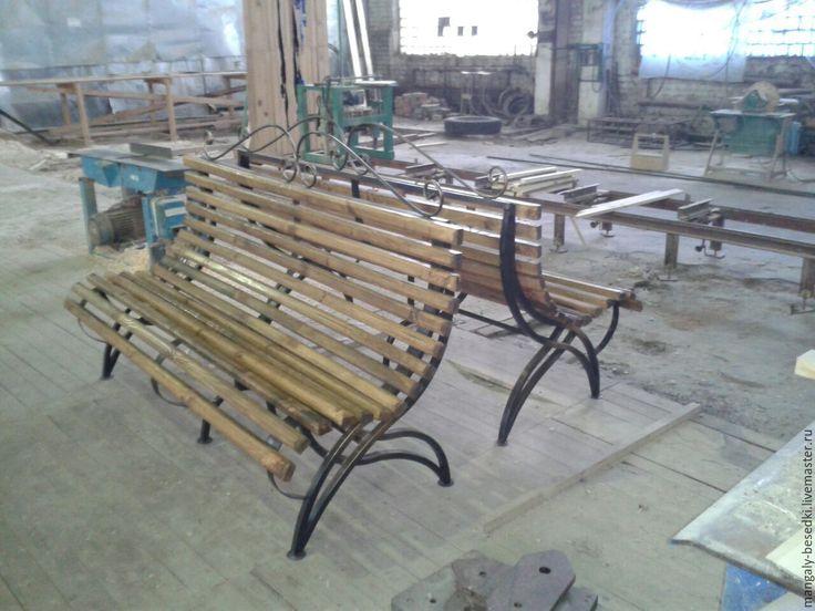 Купить Кованая скамья. - скамейка, кованные изделия, Ковка, в сад, на дачу…