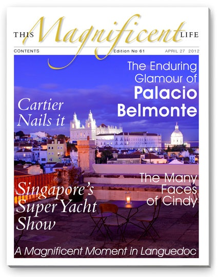 Issue 61 and the breathtaking views from one of the world's best hotels - Lisbon's Palacio Belmonte.