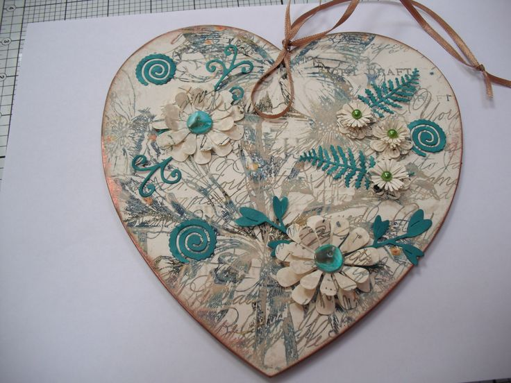 Heart: MDF Man workshop with Heidi Green at Sandown.  Finished at home.