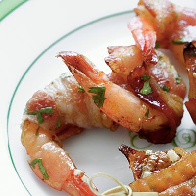 Bacon-Wrapped Shrimp - Holiday Finger Food Appetizers - Southern Living