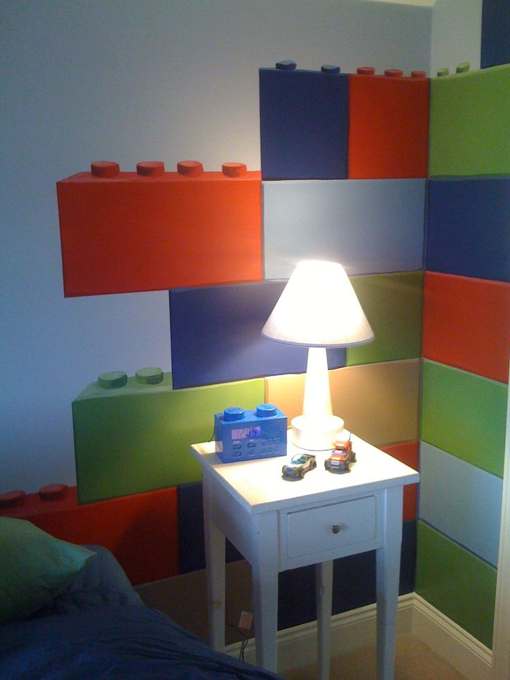 Lego Room With Big Bricks Wall Decals