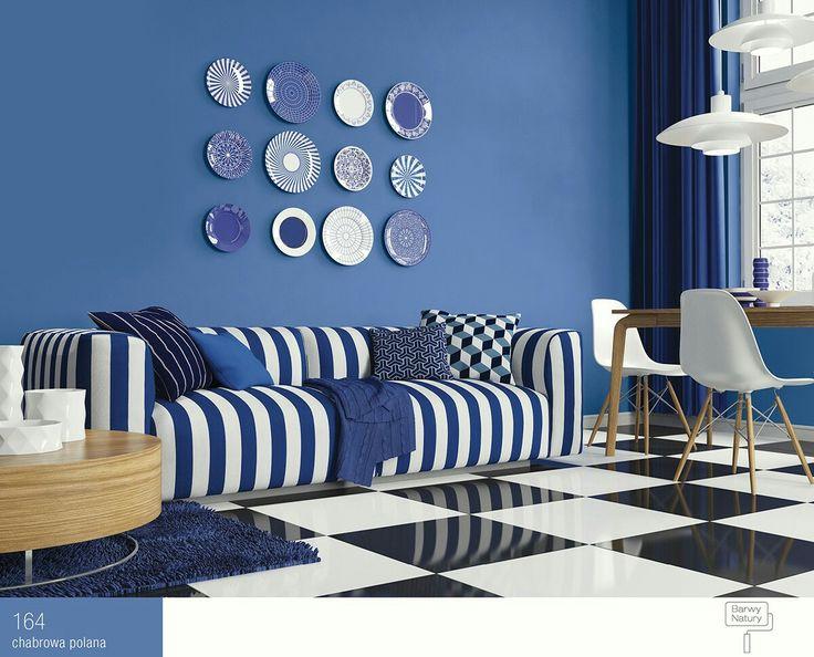 Niebieski salon