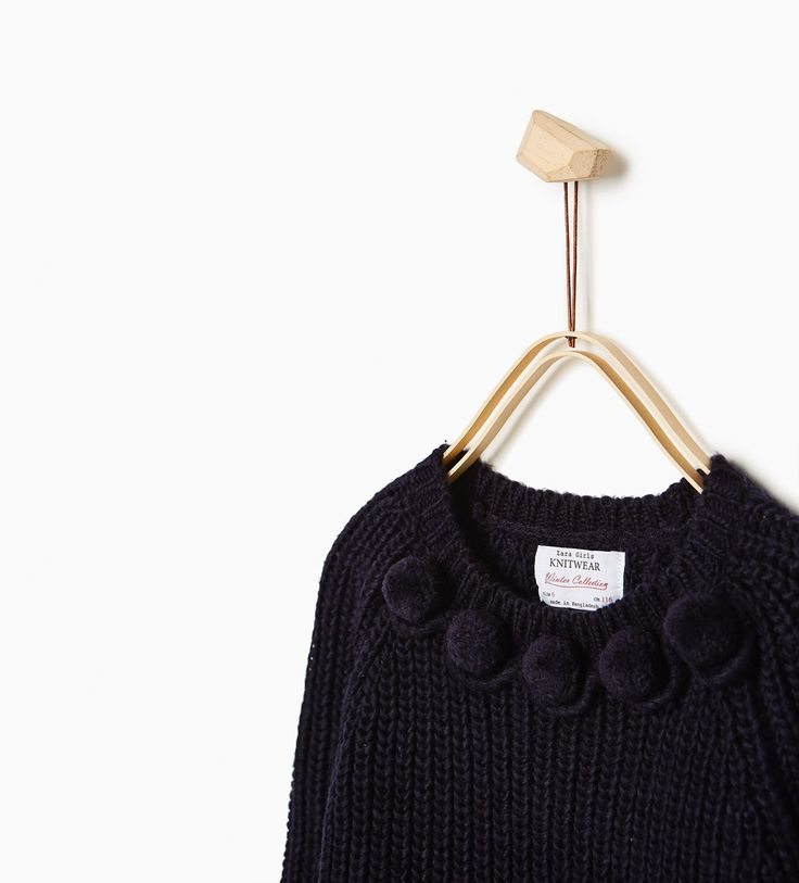 ZARA - KIDS - POMPOM SWEATER