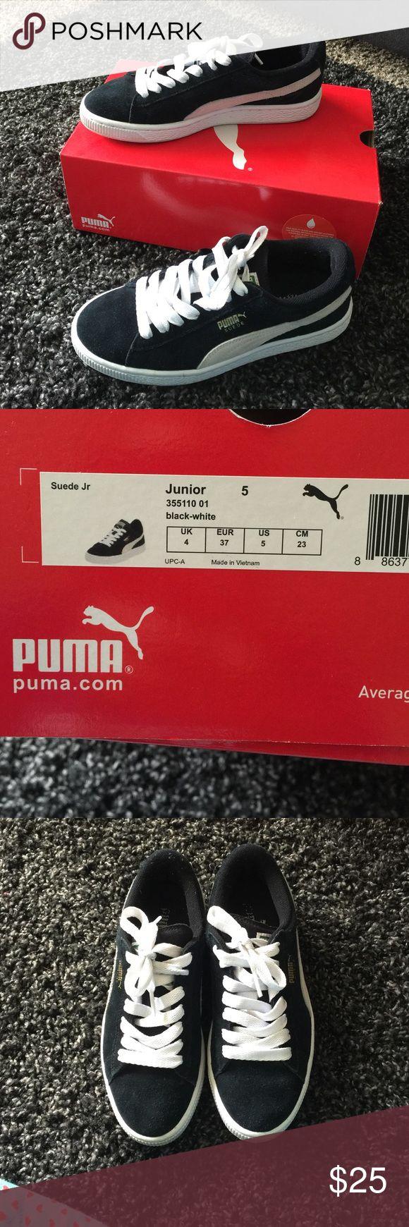 black puma suede size 6