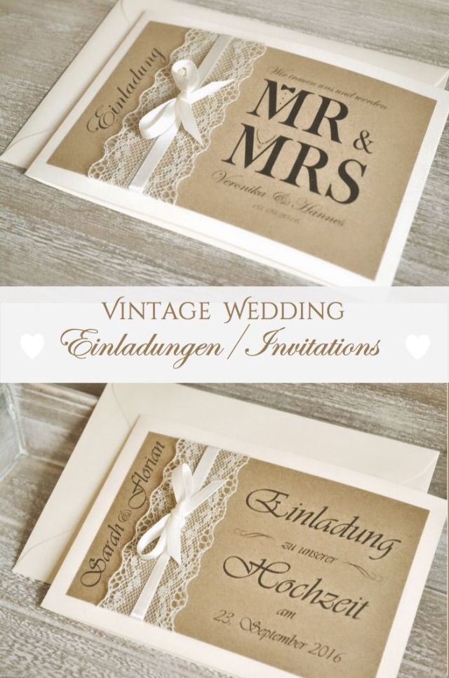 Vintage Wedding Invitations Mr Mrs Personalized Invitation Wedding Invitation Cards Invitation Cards Vintage Wedding Invitations