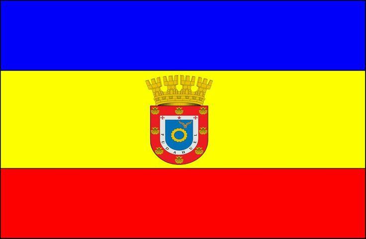 Bandera de la Comuna de Pudahuel, Santiago de Chile.