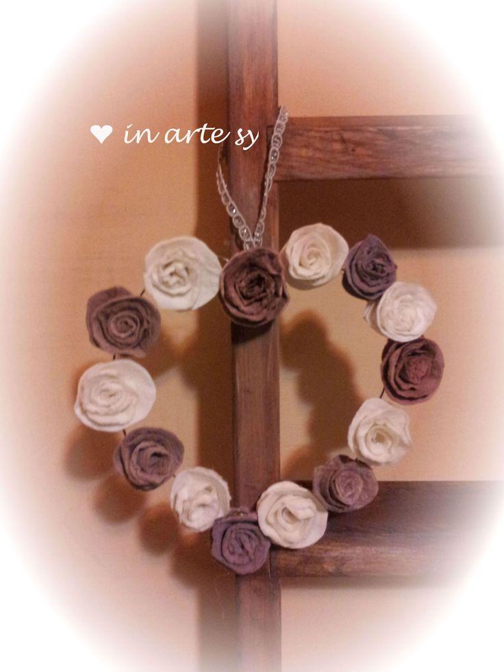 Ghirlanda di rose in finto feltro❤