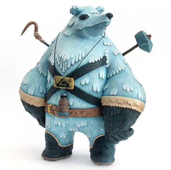 "SpankyStokes.com | Vinyl Toys, Art, Culture, & Everything Inbetween: ""Eiranin: the Snow Patrolling Polar Explorer"" custom by MAp-MAp!"