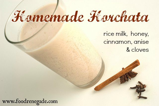 how to make horchata with condensed milk