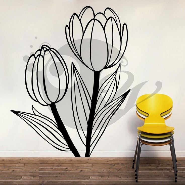 With this Beautiful Tulips Wall Sticker Decal you can decorate your walls in one of the most modern and elegant ways