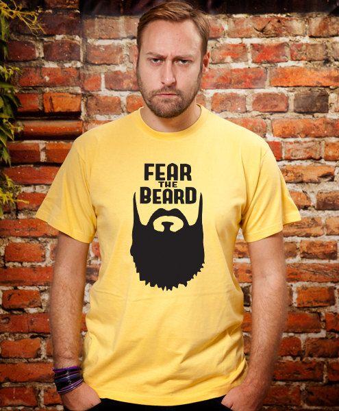 Boyfriend gift Fear the Beard Husband Gift Dad Tshirt by store365