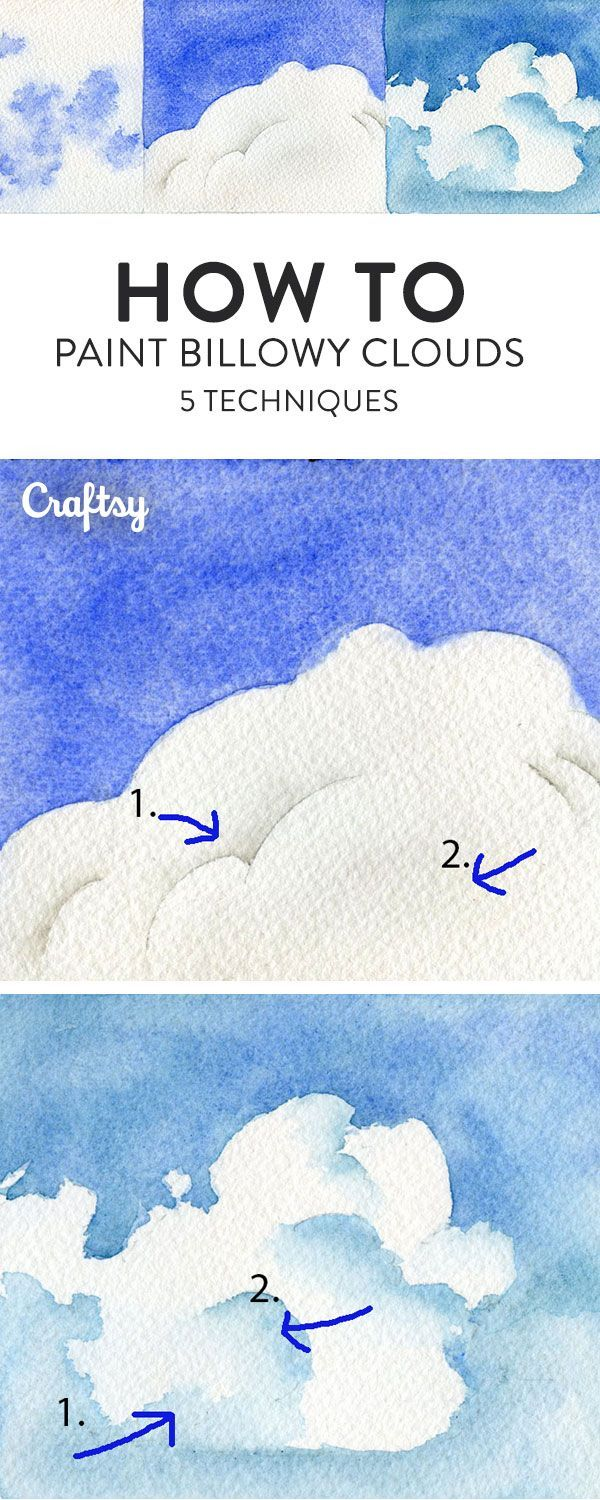 Paint the perfect cloud with this watercolor tutorial. Learn 5 different ways to realistically recreate the sky! - art tips - how to paint a cloud - sky painting - painting tips
