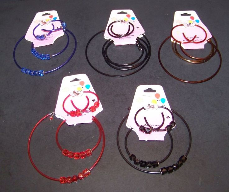 5 Sets Girls Fashion Jewelry Necklaces Bracelets Earrings Beaded Blue Red Black #ArtisanCollection