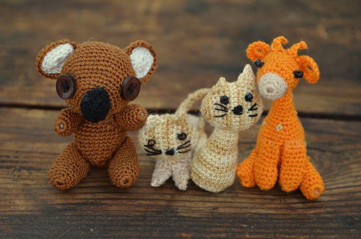 háčkovaná zvířátka/ crocheted animals