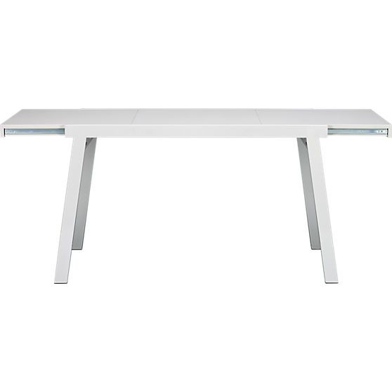 Pocket White Extension Dining Table In Tables