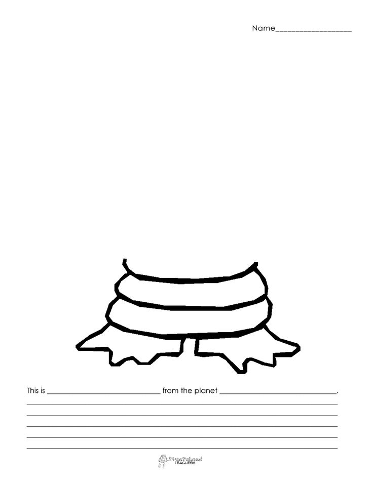Finish the Alien (9)... lots of possibilities for this alien. My kids will love this writing project. I think we'll focus on using descriptive words...